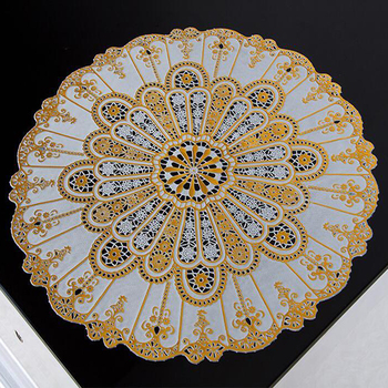 30cm round gold lace