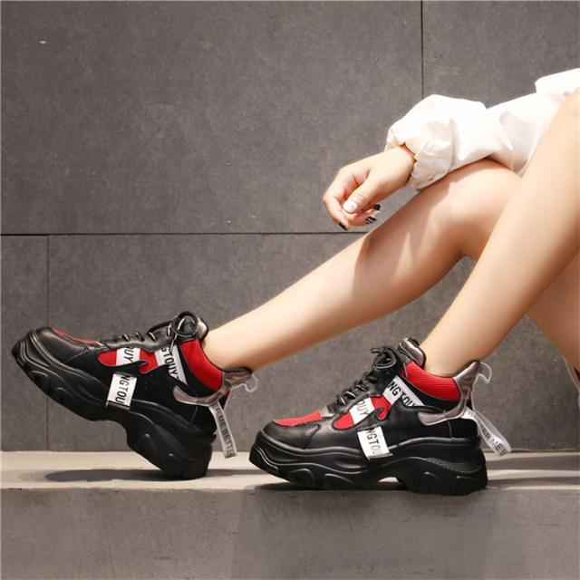 Women's Platform Sneaker Fashion Brand Women Chunky Sneakers Comfort 2020 Spring Casual Woman Dad Shoes Ladies Footwear