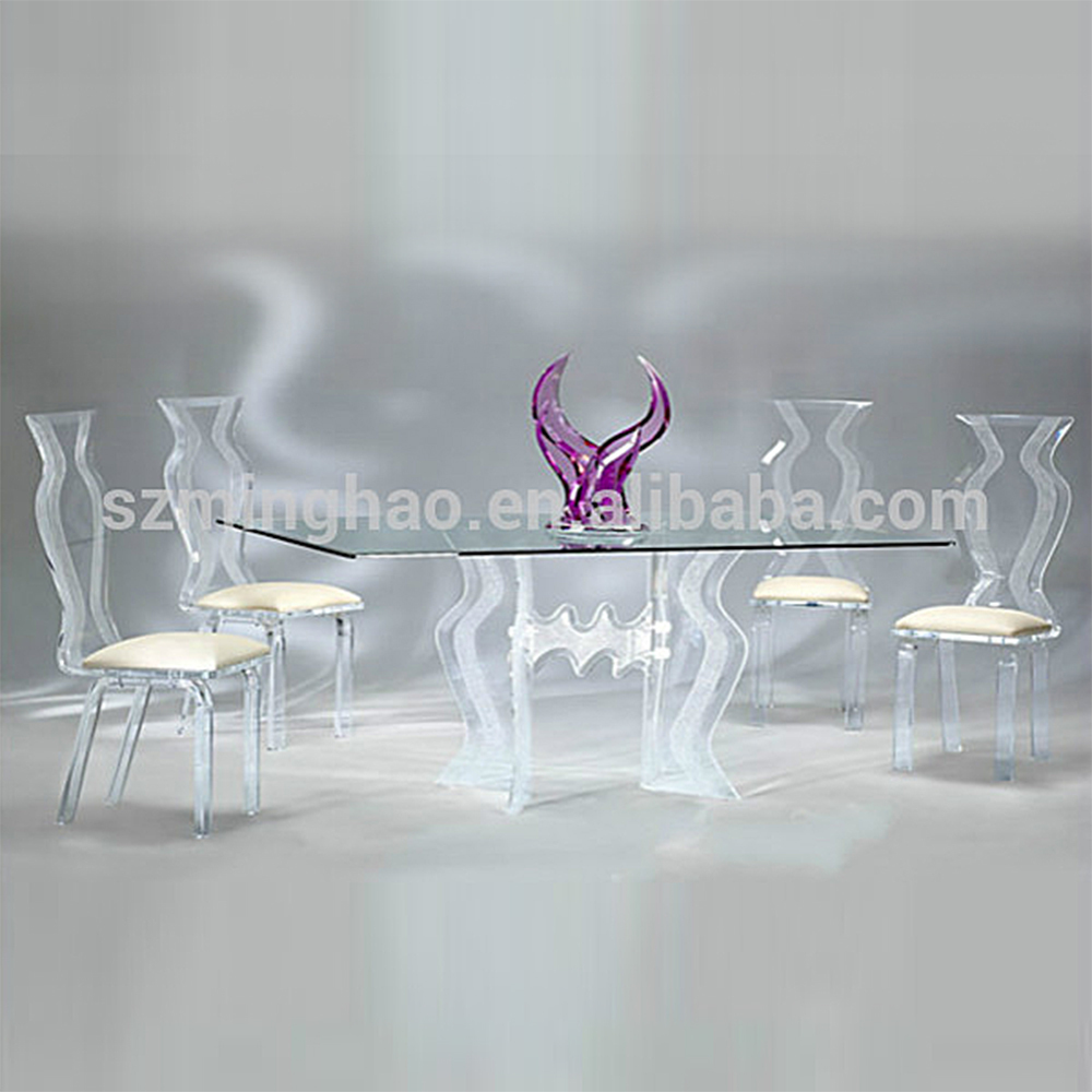 Black Dining Room Table And Chairs Elegant Acrylic Glass Dining Room Table Set And Chairs Buy Dining Table And Chair Dining Room Table Dining Table Product On Alibaba