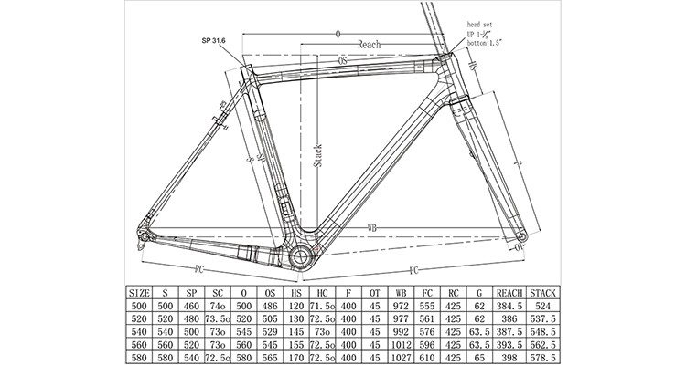 Cx Bike Frame Carbon Cyclocross V-brake Gravel Bike Frame