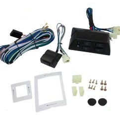 get quotations universal power window switch kit flat design with bezels switch wiring harness for 2 [ 1000 x 1000 Pixel ]