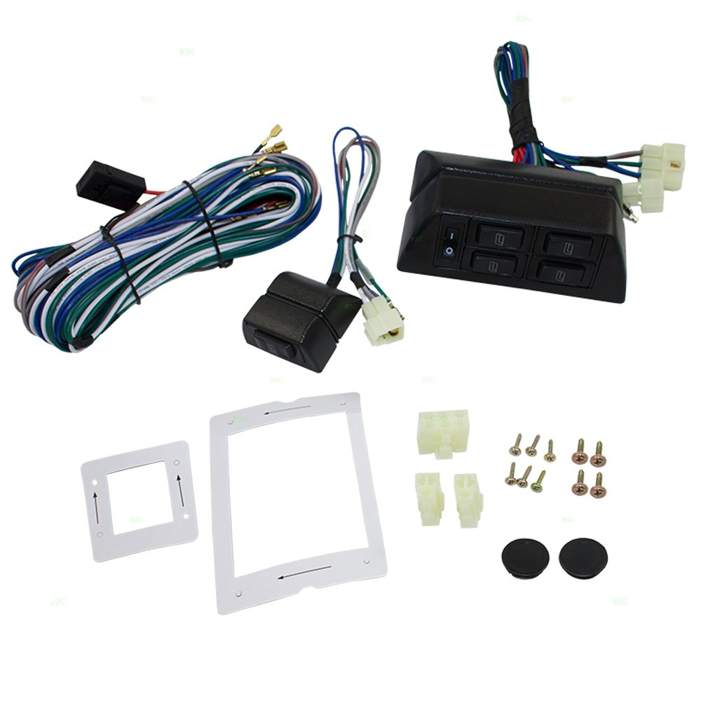hight resolution of get quotations universal power window switch kit flat design with bezels switch wiring harness for 2