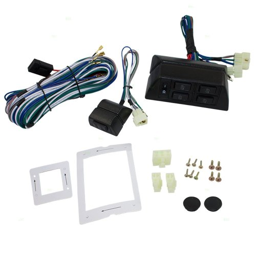 small resolution of get quotations universal power window switch kit flat design with bezels switch wiring harness for 2
