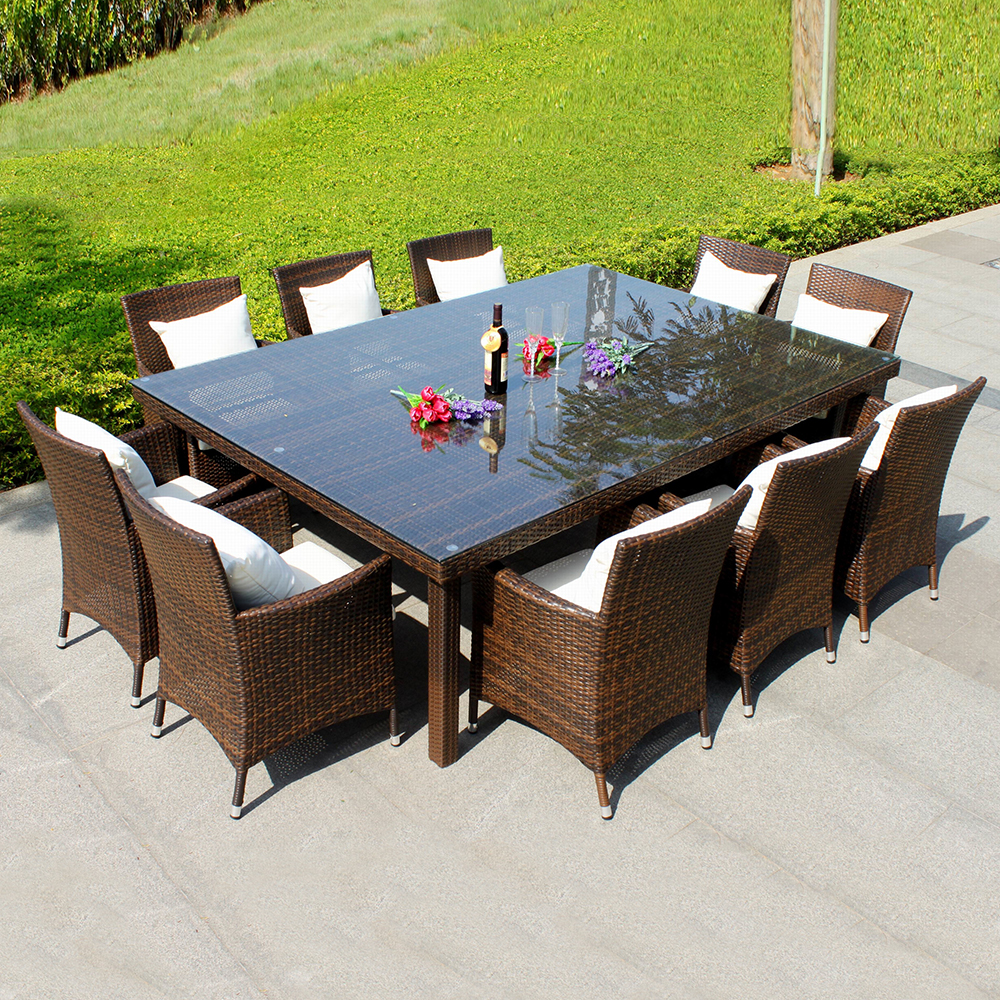 Patio Furniture Table And Chairs Annabelle Outdoor Garden Furniture All Weather Wicker Rattan 10 Seater Dining Furniture Table Chairs Buy Outdoor Garden Furniture Dining