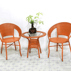 2 Chairs And Table Rattan Iron Kitchen Balcony Set Chair With 1 Buy Tables