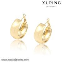 91976 Xuping Self Piercing Hoop Earrings,14k Gold Color ...