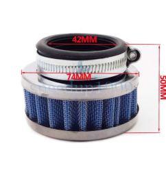 get quotations 42mm air filter pocket dirt pit mini moto  [ 1000 x 1000 Pixel ]