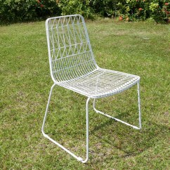Outdoor Wire Chairs Modern Rocking Chair Nursery Uk Replica Lucy Dining Bent Metal Frame