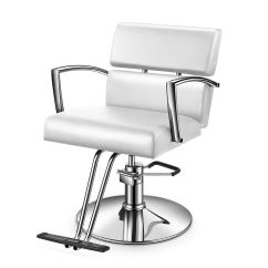 White Multi Purpose Salon Chair Bedroom Asda Buy Baasha Styling With Hydraulic Pump Footrest For Hair Stylist