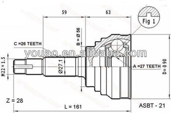 Good Quality Outer Cv Joint For Toyota Lite/townace Noah,V