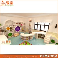 Library Furniture For Kindergarten Day Care Center For ...