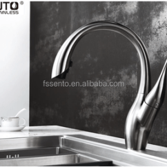 Stainless Steel Kitchen Faucet With Pull Down Spray Roll Around Island Sento C 90 Sprayer