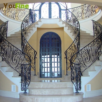 Custom Wrought Iron Stair Railing For Sales Buy Iron Stair Railing | Custom Iron Stair Railing | Indoor | Steel | Metal | Curved | Ornamental