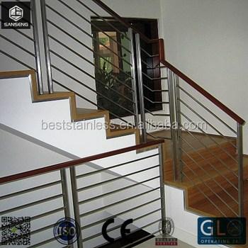 Exterior Terrace Sus304 Material Stainless Steel Railings Stair   Stainless Steel Stair Railing   Price   Wall   Outdoor   Vertical   Golden
