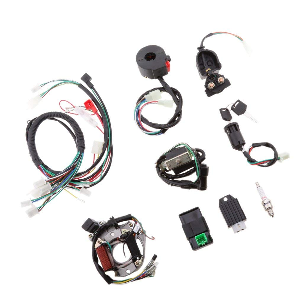 hight resolution of get quotations dolity wire harness ignition coil cdi assembly wire harness switch for 50cc 70cc 90cc 110cc atv