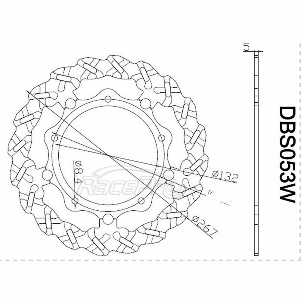 Front Rear Brake Rotors For Yamaha X-max Yp R 125,X-max Yp