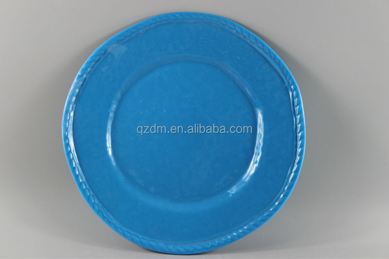 Blue Melamine Dinner Plates
