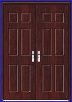 Fashion Exterior Double Door Design Pj