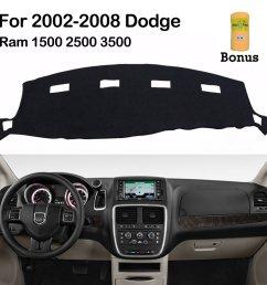 big ant dashboard cover for dodge ram 1500 2500 3500 2002 2008 black carpet dash [ 1001 x 1001 Pixel ]