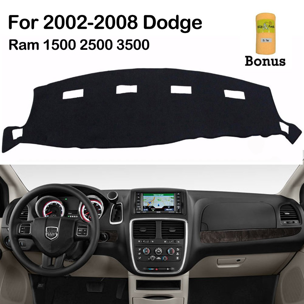 hight resolution of big ant dashboard cover for dodge ram 1500 2500 3500 2002 2008 black carpet dash