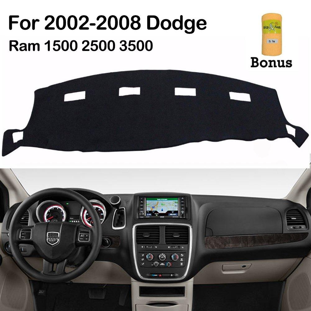 hight resolution of big ant dashboard cover for dodge ram 1500 2500 3500 2002 2008 black carpet dash