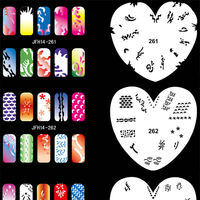 20 Sheets Whole Nail Stickers Stencils 3d Hollow Beauty Women Art Tools Airbrush Templates Giltter Stencil