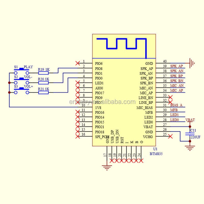 stereo headphone wiring diagram double light switch btm835-csr8635 csr8635 bluetooth audio module 2.4ghz 4.1 for ...