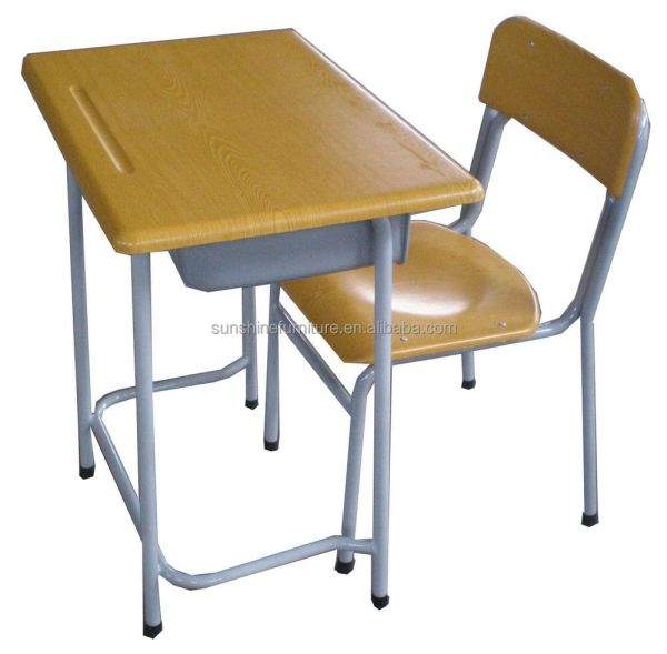 Cheap Adjustable School Desk Bench And Chair University Traing
