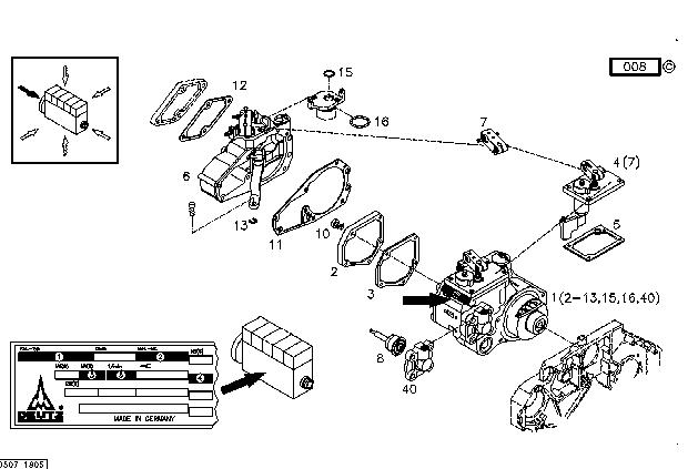 Deutz Engine Spare Parts Bfm1013 Controller 0211 1435