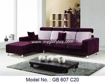 purple living room furniture sofas paint for rooms ideas modern sofa set l shape corner