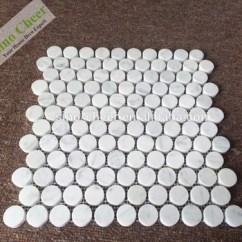 Travertine Kitchen Backsplash Chairs For Table 20毫米bianco Carrara 白色大理石 石材马赛克墙 地板 浴室 厨房硬币圆 厨房