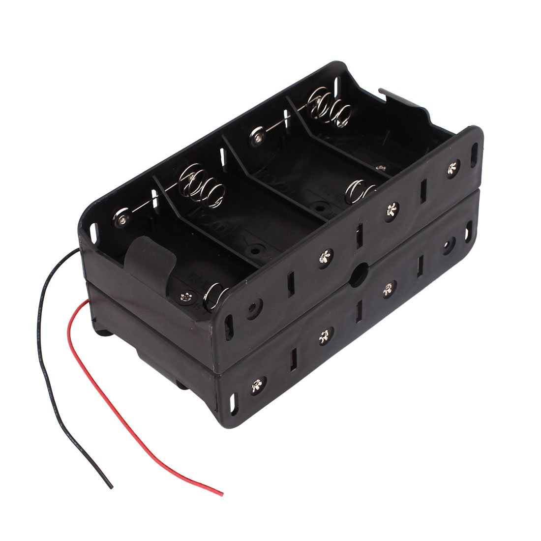 hight resolution of get quotations 1 5v d size battery box toogoo r dual wires double sides storage case
