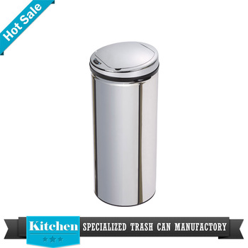 13 gallon kitchen trash can designers nj stainless steel 50 liter eco friendly automatic sensor buy