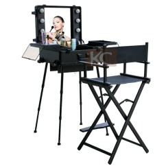 Personalized Makeup Artist Chair Patio And Ottoman Set Portable Salon Make Up Styling Barber Aluminum Fashion