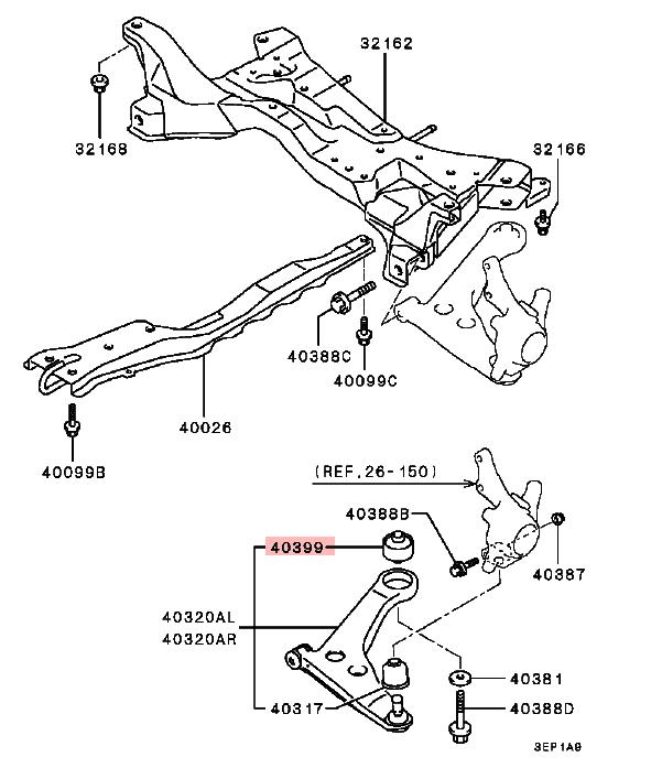 Suspension Lower Arm Bushing For Mitsubishi Lancer Delica