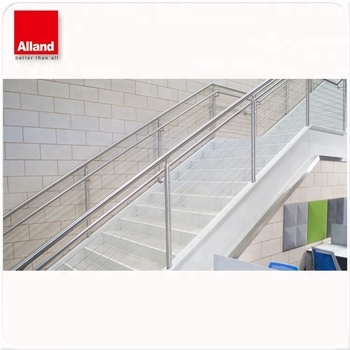 Modern Stainless Steel Cable Stair Railing Wire Railings Stairs | Modern Cable Stair Railing | Entry Foyer | Staircase Remodel | Stair Treads | Glass Railing | Deck Railing