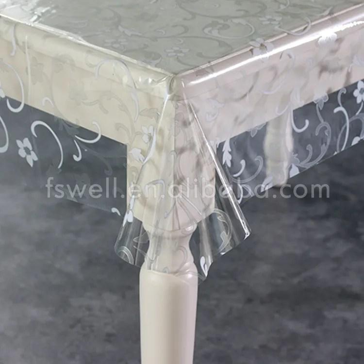 nappe ronde en plastique pvc transparent en vinyle transparent a motif floral couverture de table pour mariage buy nappe en plastique pvc imprimee