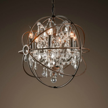 Fancy Crystal Candle Hanging Vintage Pendant Lamp,Home