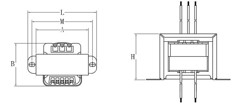 PCB Welding isolation transformer 220V 12V 24v ac