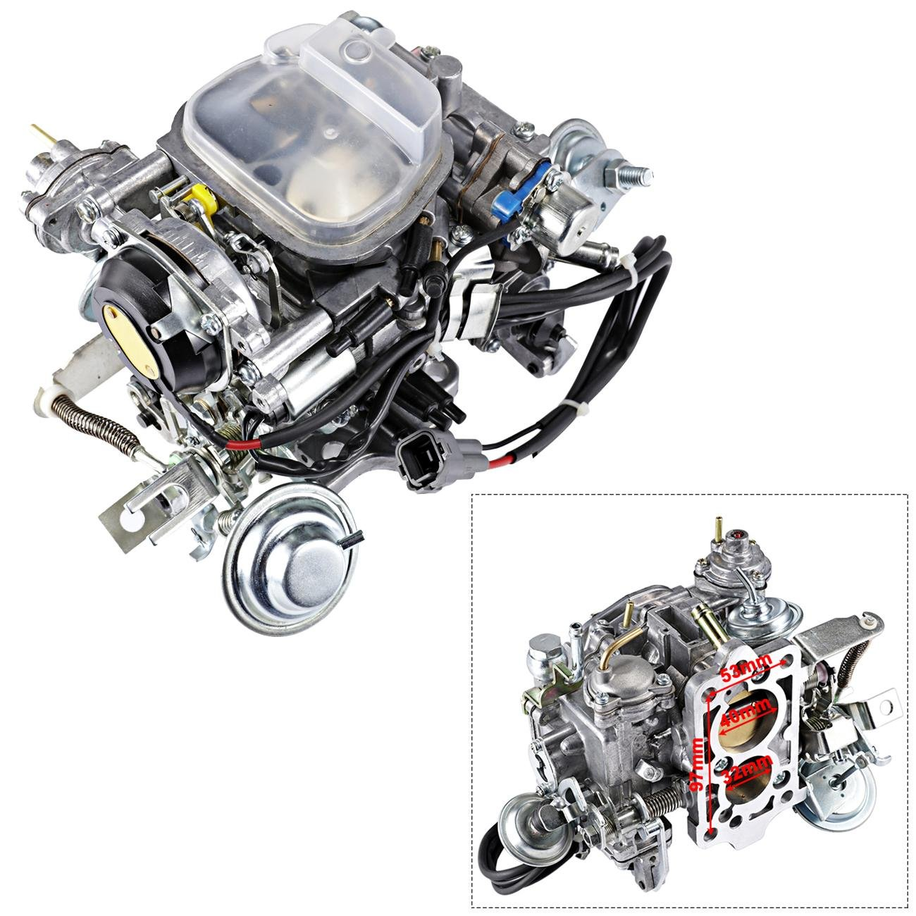hight resolution of get quotations alavente 21100 35463 carburetor carb for toyota pickup trucks 1988 1990 22r engine