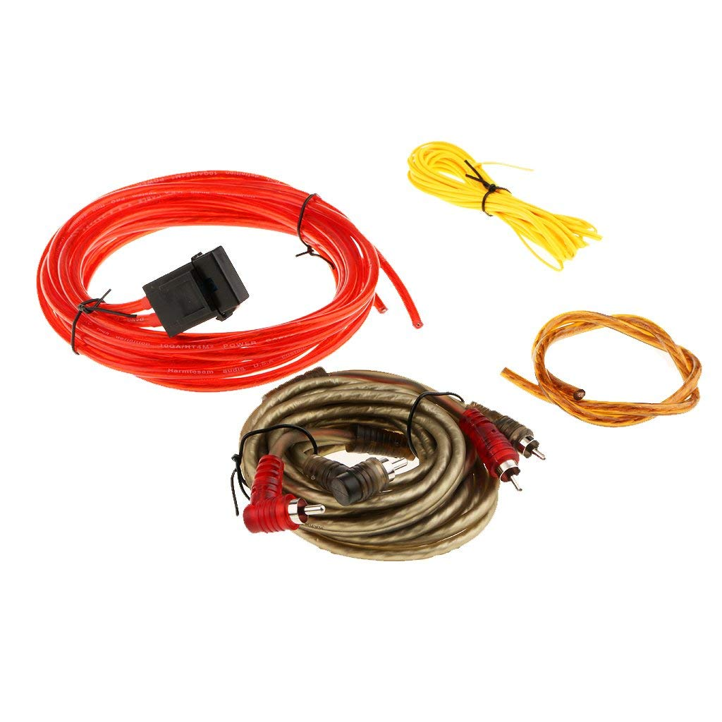 hight resolution of get quotations magideal car subwoofer sub amplifier amp rca wiring kit power cable 126