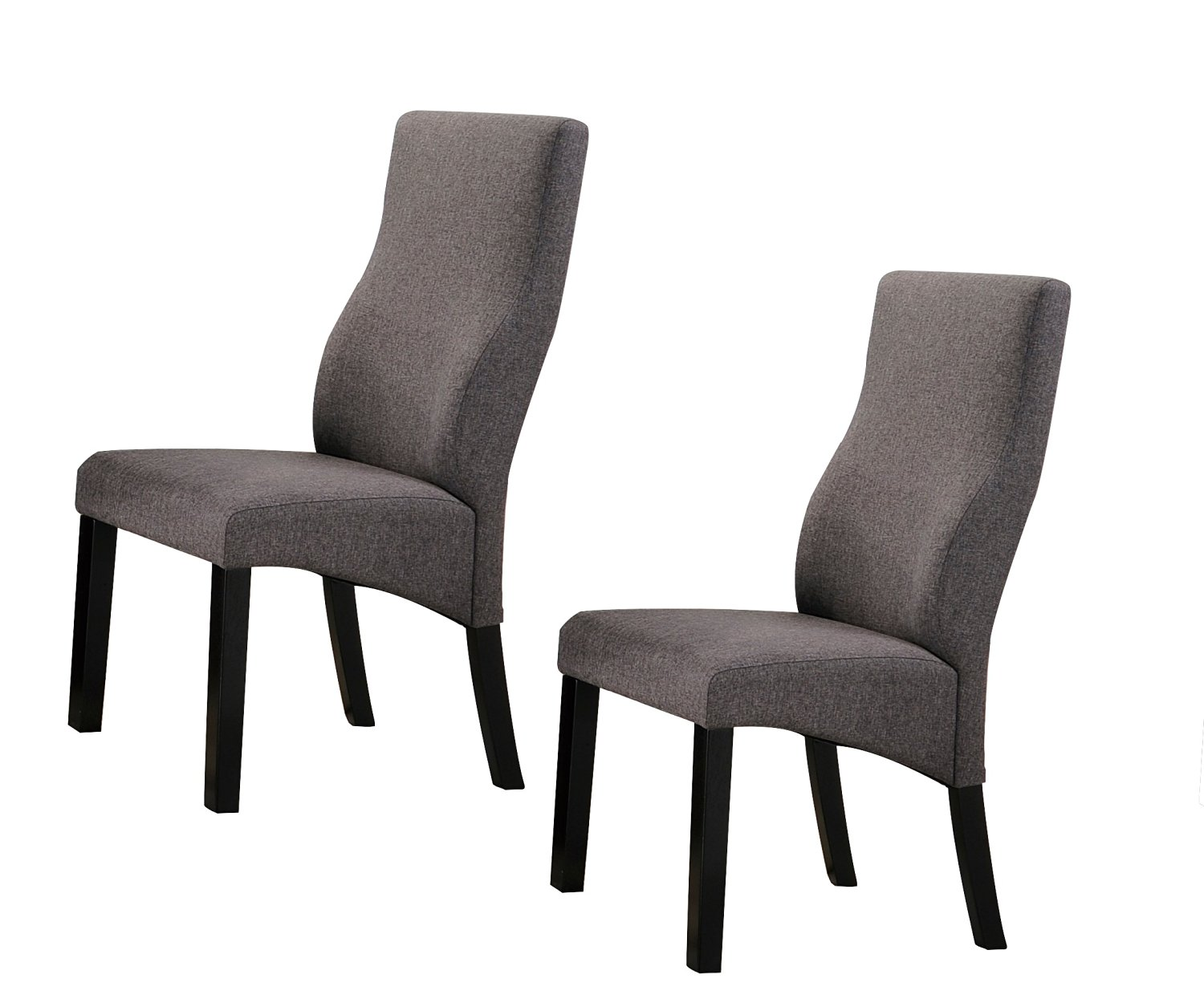 grey upholstered dining chairs uk chair rail design ideas cheap find deals on get quotations kings brand cappuccino parsons set of 2