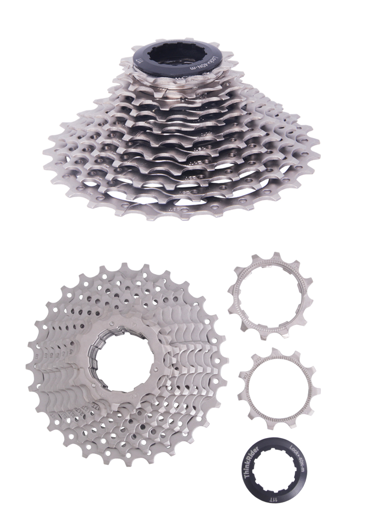 Thinkrider Highway bicycle 11 Speed cassette Flywheel Rear Gear Suitable for 22 Speed Vehicle
