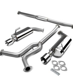 get quotations nissan maxima a34 v6 stainless steel dual 4 rolled muffler tip catback exhaust system [ 1200 x 1200 Pixel ]