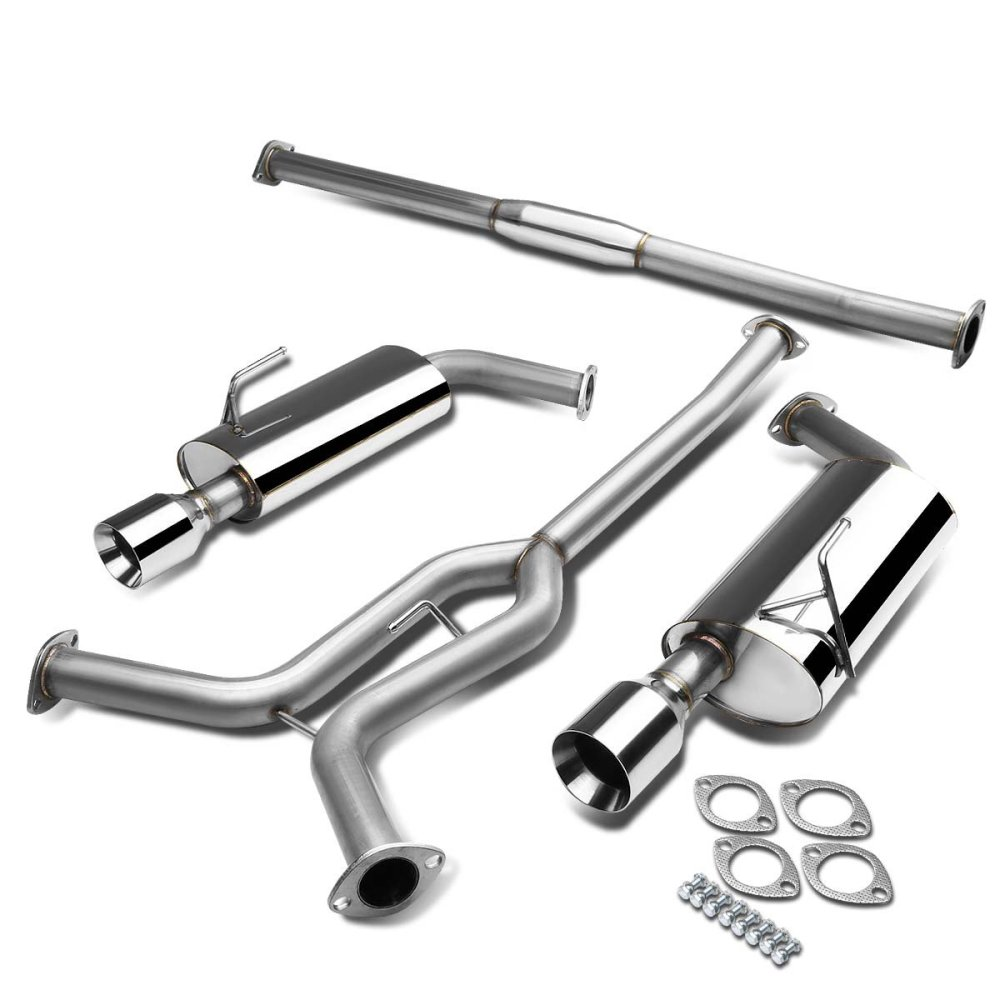 medium resolution of get quotations nissan maxima a34 v6 stainless steel dual 4 rolled muffler tip catback exhaust system