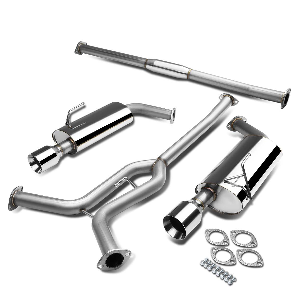 hight resolution of get quotations nissan maxima a34 v6 stainless steel dual 4 rolled muffler tip catback exhaust system