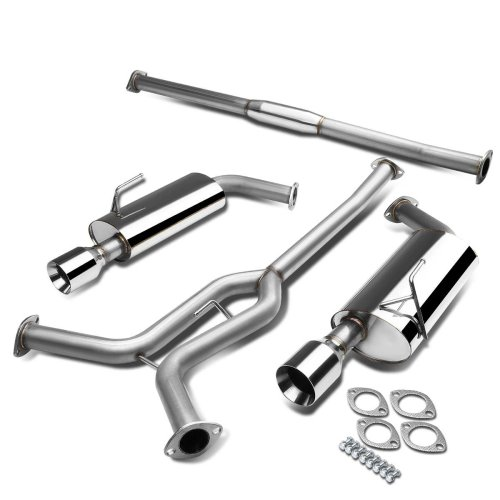 small resolution of get quotations nissan maxima a34 v6 stainless steel dual 4 rolled muffler tip catback exhaust system