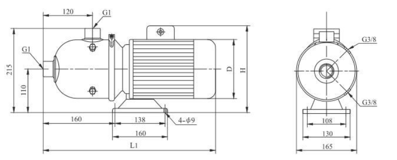 Hot Sell High Pressure Horizontal Stainless Steel Cnp