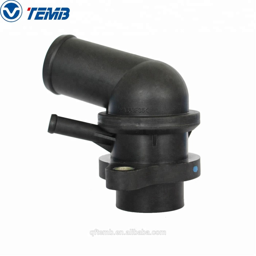 medium resolution of chevrolet daewoo buick engine cooling water flange coolant thermostat housing 96282726