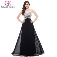 2015 The Newest Nice Design Of Chiffon Floor Length Black ...